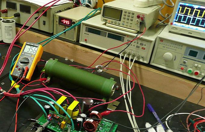 1000 watt resistance connected to inverter