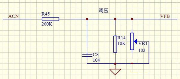Output voltage feedback adjustment circuit